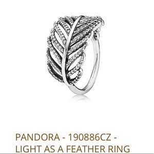Pandora Light as a Feather Ring size 7.5